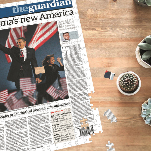 "Personalised ""The Guardian/Observer"" Front Page Jigsaw Puzzle"