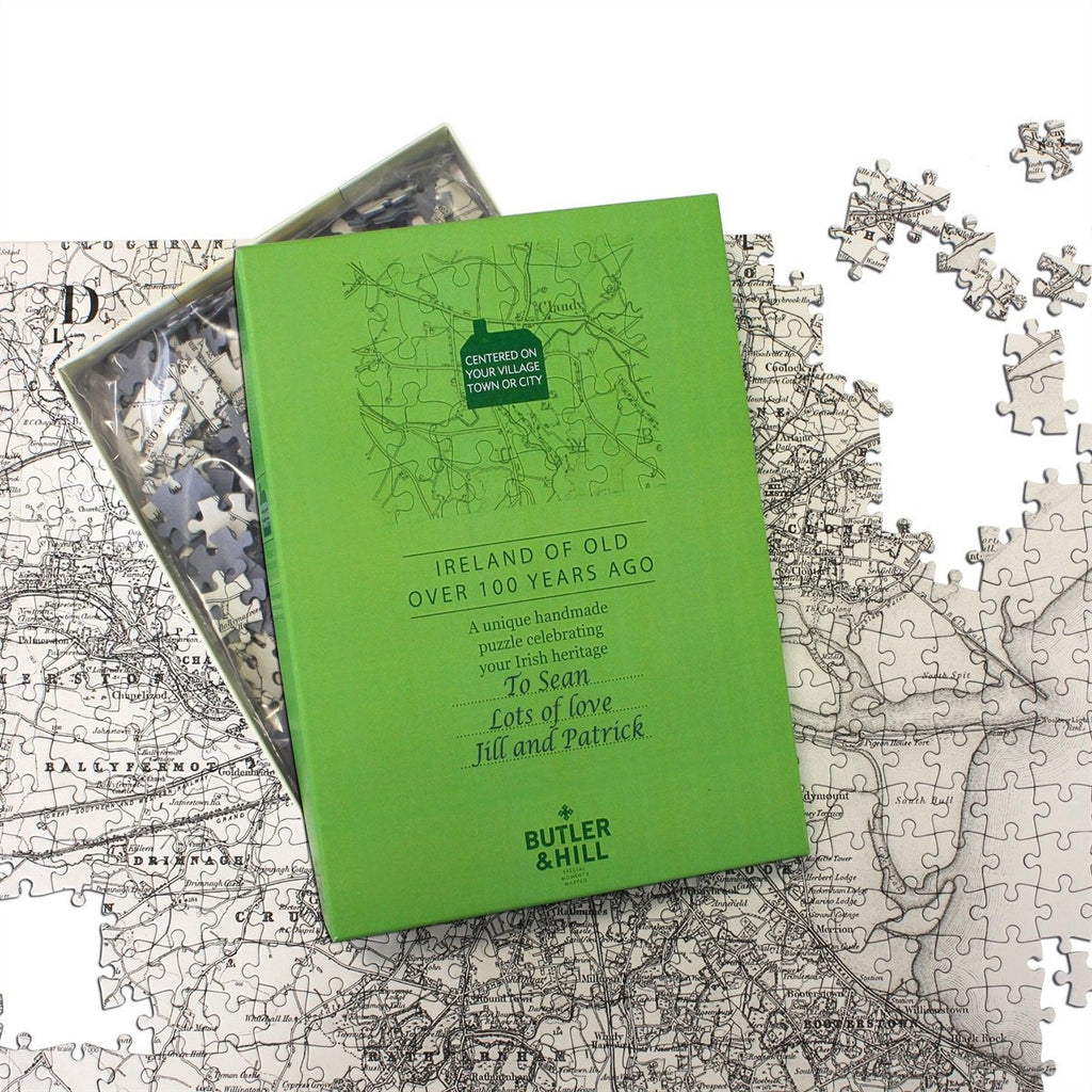 Personalised Jigsaw - Ireland Of Old Jigsaw Personalised Map Jigsaw