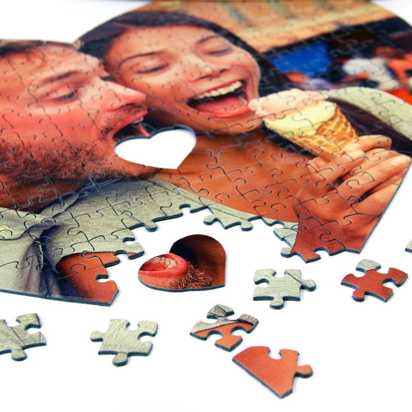 Personalised Jigsaw - Personalised Heart Shaped Photo Puzzle Personalised Heart Shaped Photo Jigsaw Puzzle
