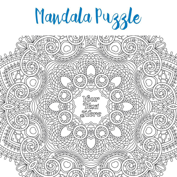 Personalised Jigsaw - Pieceful Puzzle - Personalised Adult Colouring Jigsaw Pieceful Puzzle - Personalised Adult Colouring Jigsaw