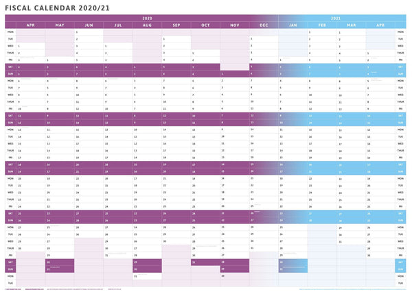 Tax Planner - 2020/21 Fiscal Wall Planner-Purple-1