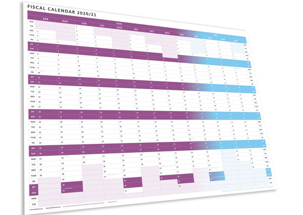 Tax Planner - 2020/21 Fiscal Wall Planner-Purple-2