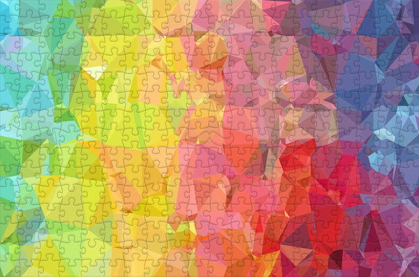 Crinkle Rainbow - Impuzzible - 300 Piece Wooden Jigsaw Puzzle Crinkle Rainbow - Impuzzible - 300 Piece Wooden Jigsaw Puzzle