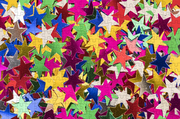 Shiny Stars - Impuzzible - 300 Piece Wooden Jigsaw Puzzle Shiny Stars - Impuzzible - 300 Piece Wooden Jigsaw Puzzle