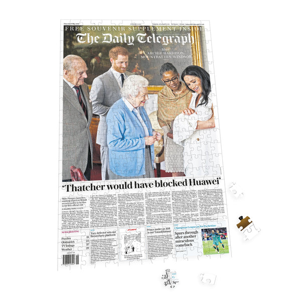"Personalised ""The Telegraph"" Front Page 400 Piece Jigsaw Puzzle 3 Personalised"