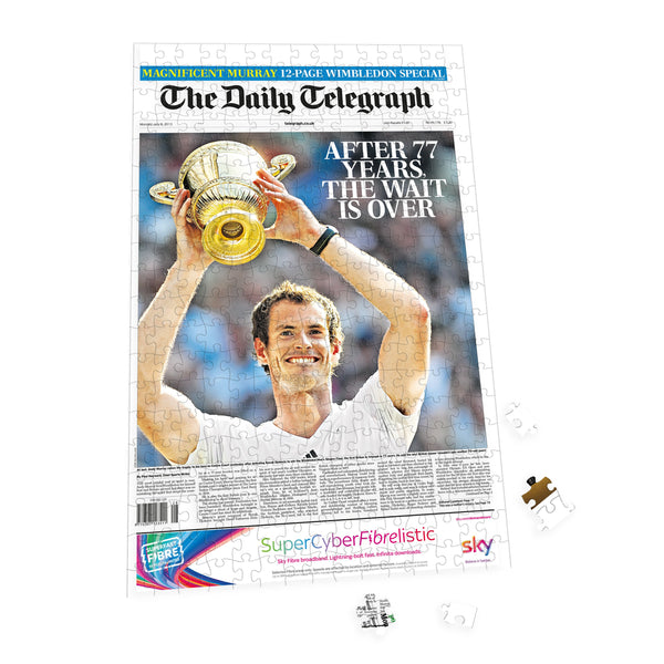 "Personalised ""The Telegraph"" Front Page 400 Piece Jigsaw Puzzle 5 Personalised"