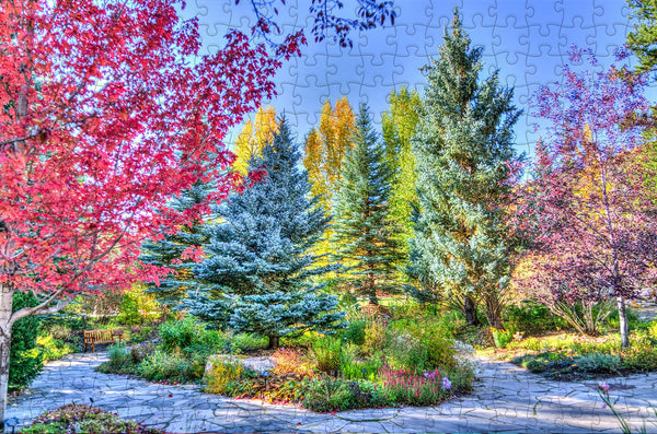Colourful Trees - 300 Piece Wooden Jigsaw Puzzle Colourful Trees - 300 Piece Wooden Jigsaw Puzzle