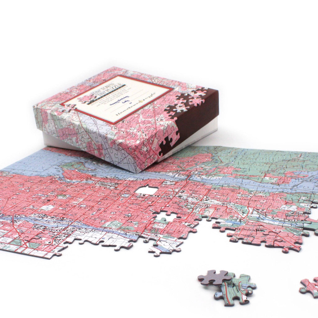 US Jigsaw Puzzle - Canada Map Jigsaw Puzzle - Centered On Any Canadian Address