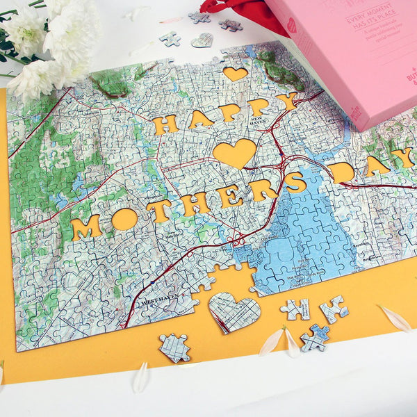 US Jigsaw Puzzle - Mother's Day Personalized US Map Puzzle
