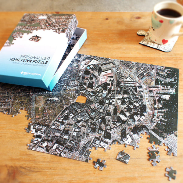 "US Jigsaw Puzzle - ""My Hometown"" Personalized Puzzle (USA Aerial Photography)"