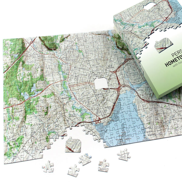 "US Jigsaw Puzzle - ""My Hometown"" Personalized US Map Puzzle"
