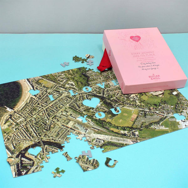 Personalized Us Map.We First Met Here Personalized Map Jigsaw Puzzle