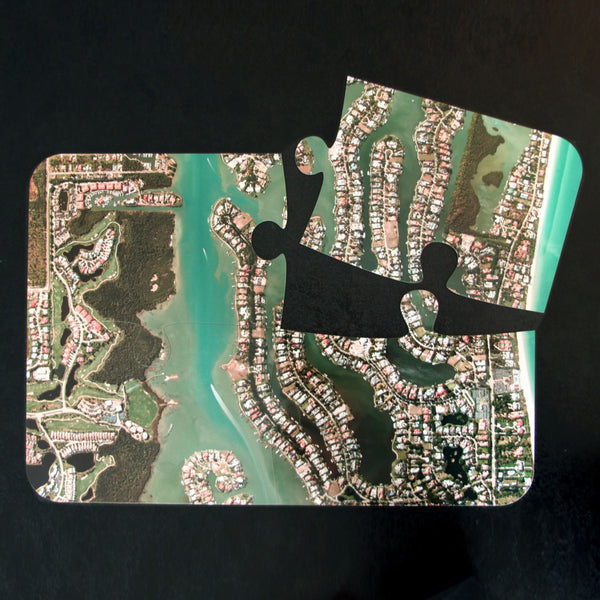 US Map Gift - Aerial Photo Puzzle Placemats - Centered On Any US Address Aerial Photo Puzzle Placemats - Centered on any US Address