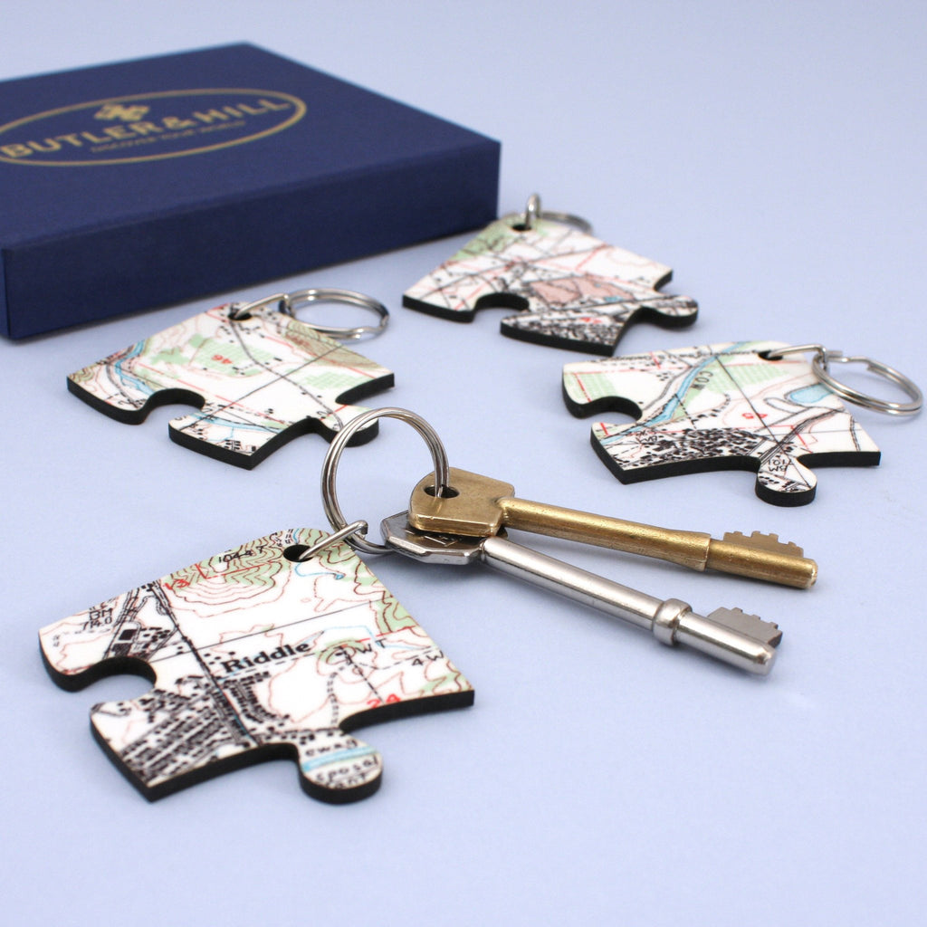 US Map Gift - Key Chains With A Personalized US Map