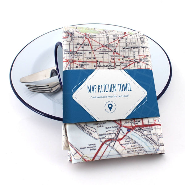 US Map Gift - Personalized Kitchen Towel - US