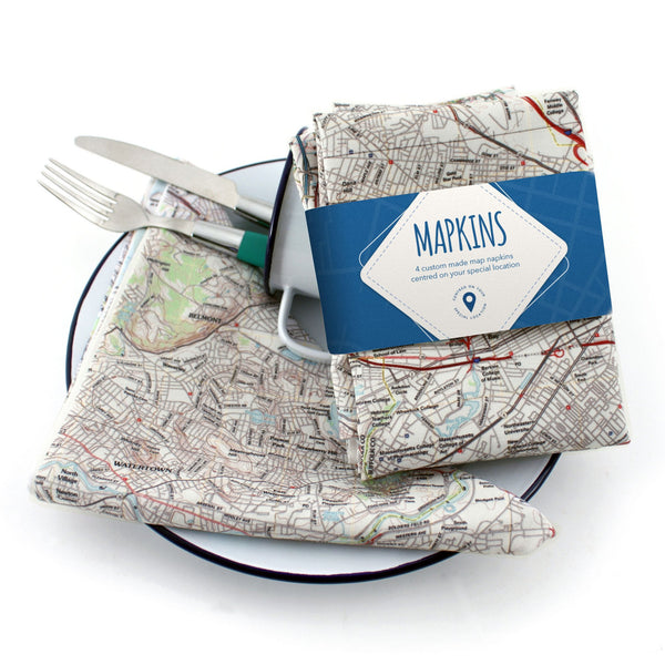 US Map Gift - Personalized US Map Napkins (Mapkins) Personalized US Map Napkins (Mapkins)