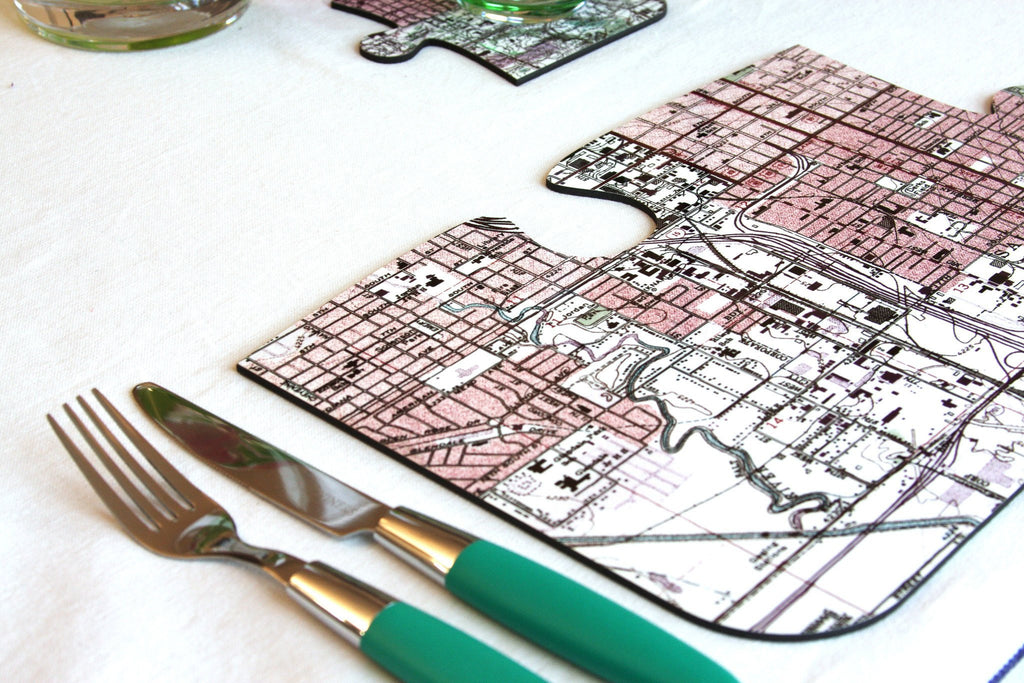 US Map Gift - US Map Personalized Puzzle Placemats