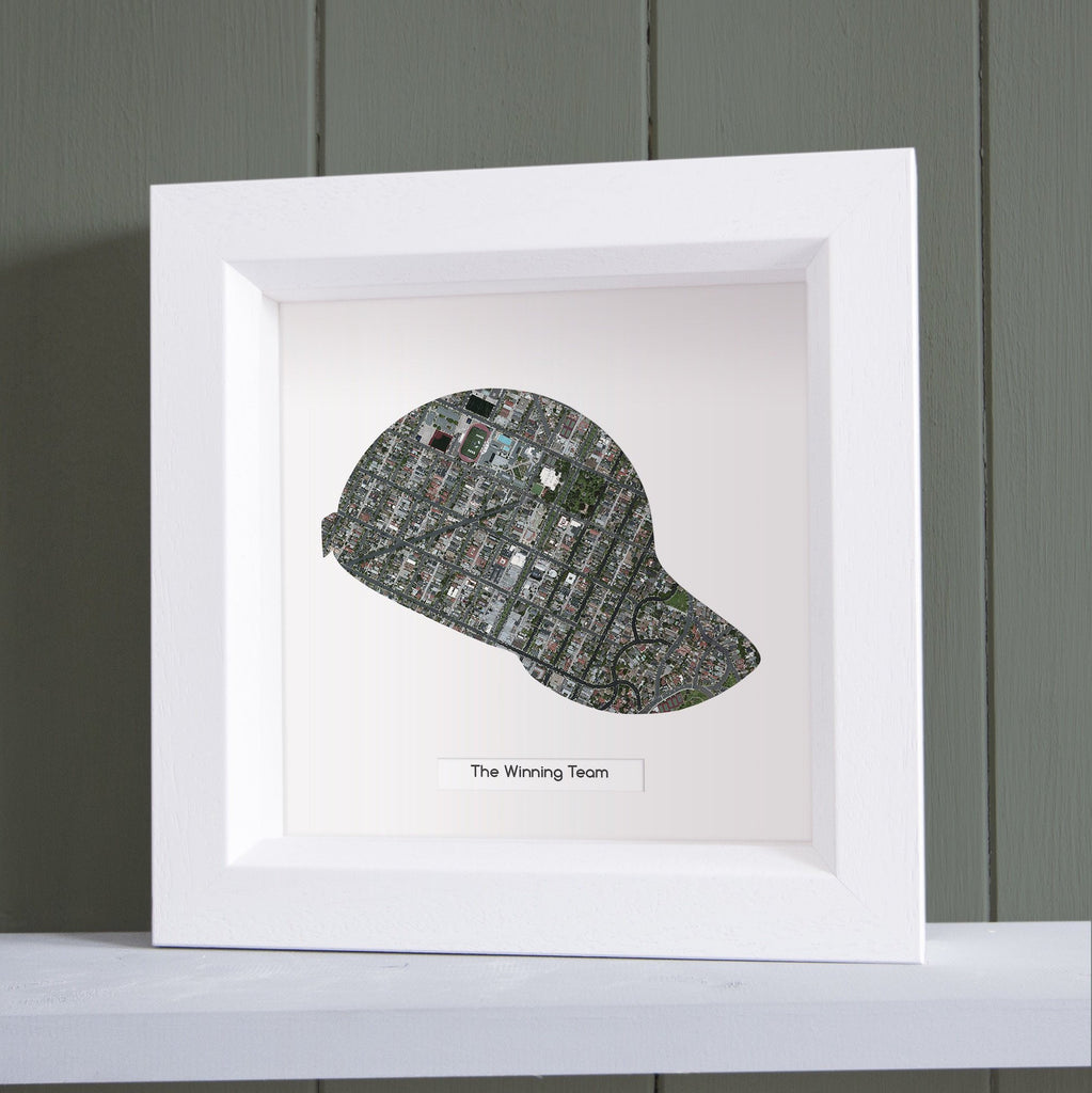 Baseball Cap Personalized US Framed Map Butler And Hill UK - Map Of Us Baseball Teams
