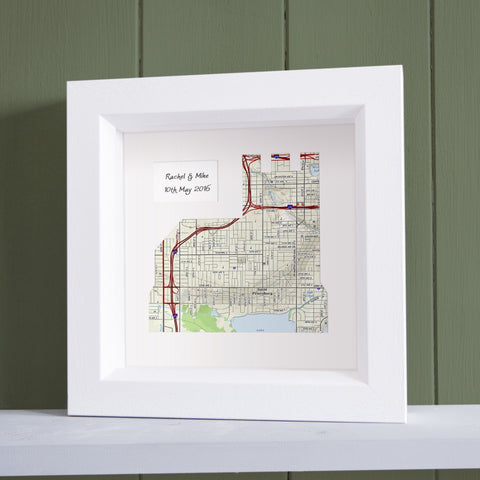 Church Shaped Personalized Framed US Map Art Butler And Hill UK - Us map of churches