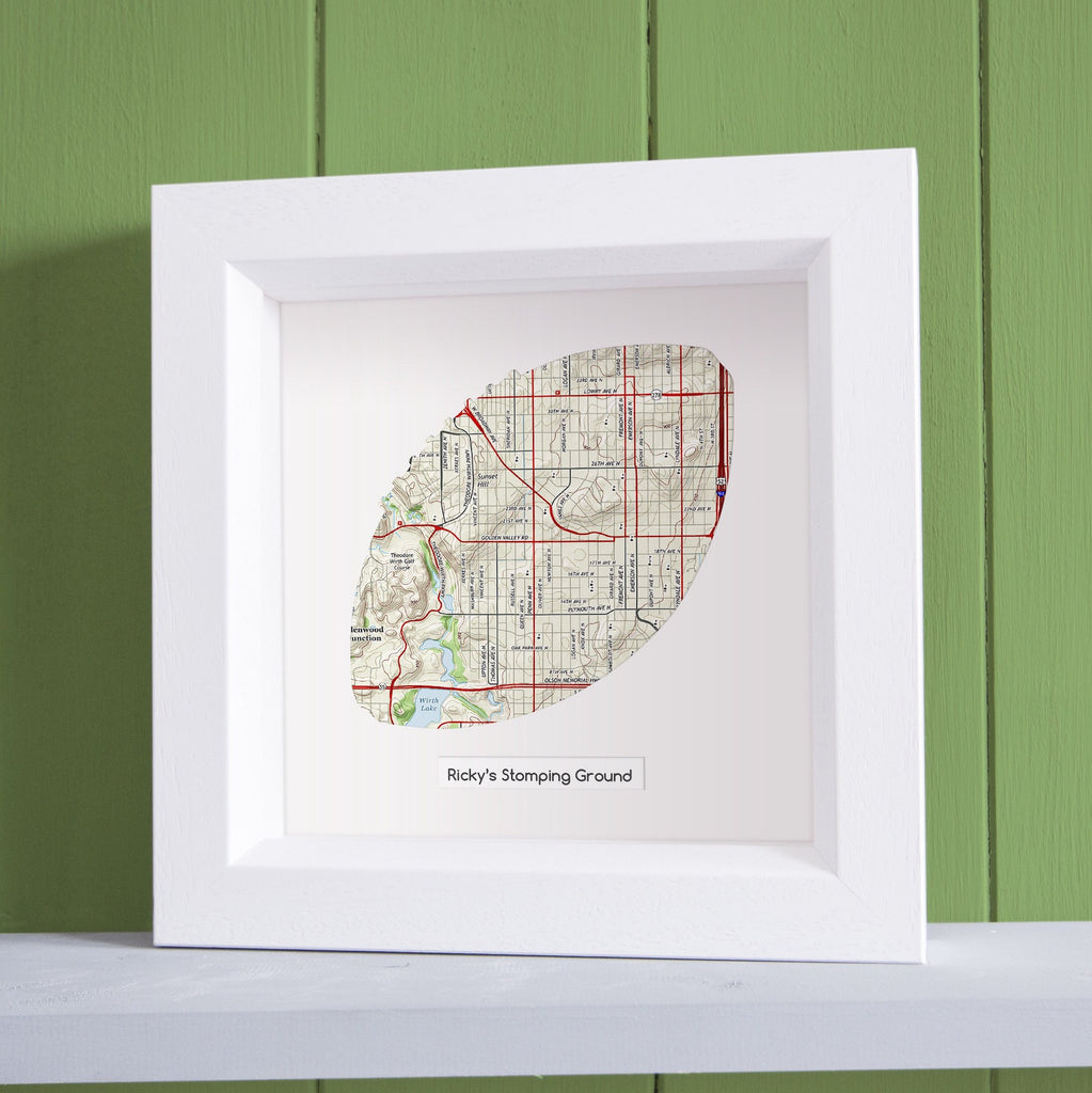 Football shaped personalized framed map butler and hill uk us wall art football shaped personalized framed map gumiabroncs Choice Image