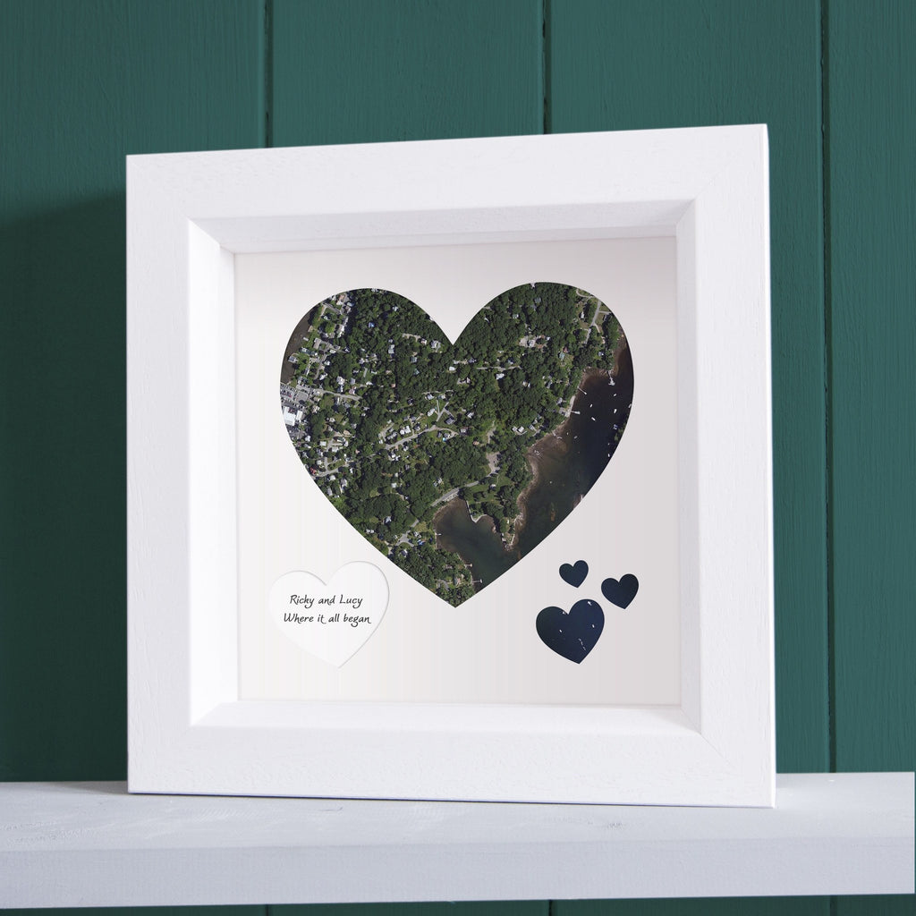 HeartShaped Personalized Framed US Wall Map - Framed us wall map