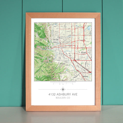 Large Framed Us Map - Large framed us map