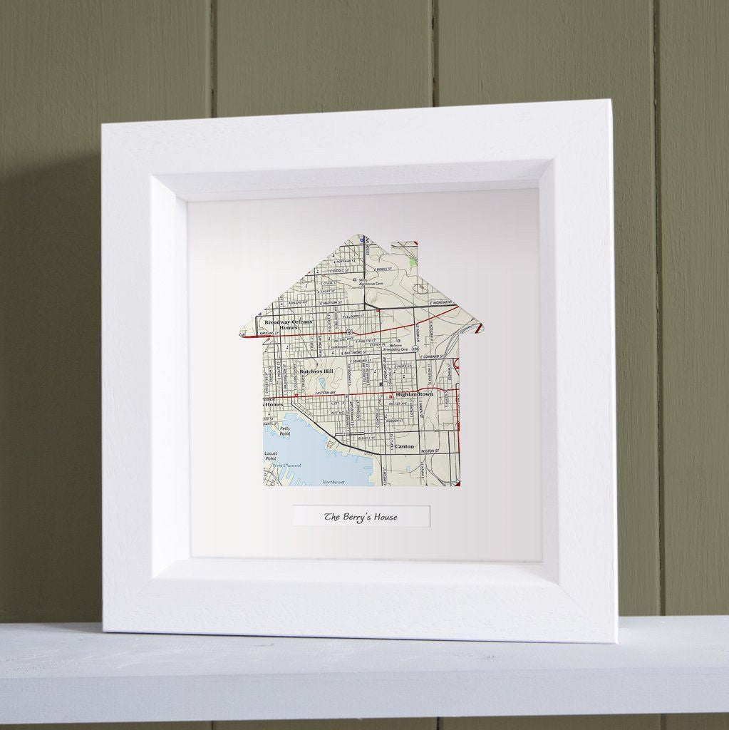 Our Home Personalized Framed Us Map