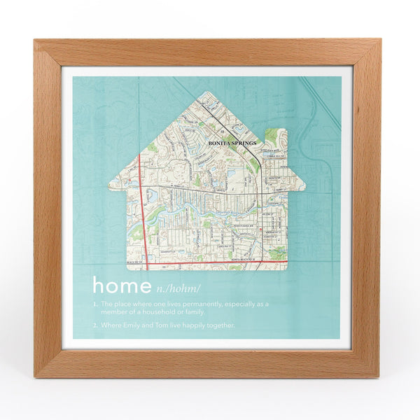 US Wall Art - Personalized Dictionary Definition US Map - Home