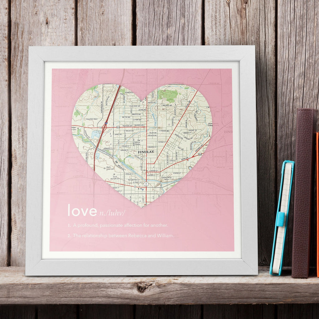 Personalized Framed Dictionary Definition US Map Love Butler - Framed us map