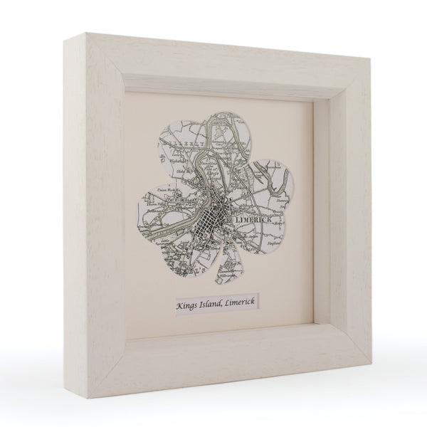 US Wall Art - Shamrock Personalized Framed Irish Map