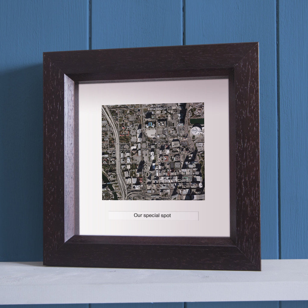 ... US Wall Art   Square Framed Personalized US Map Wall Art ...
