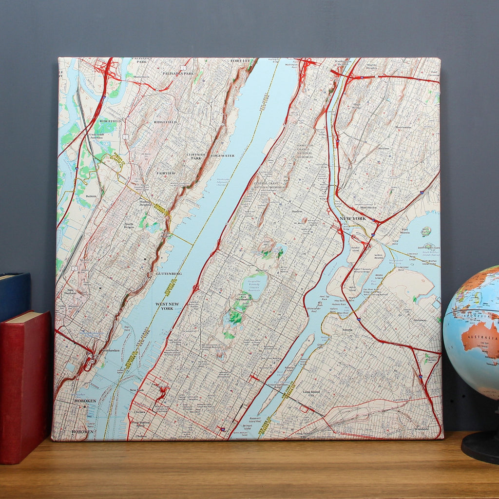 Personalized Usa Map.Usa Wall Map Canvas Personalized On Any Us Location