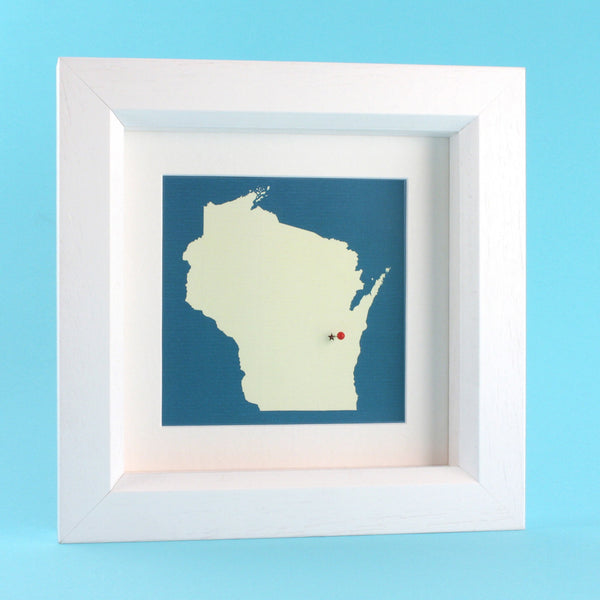 US Wall Art - Your US Framed State Map