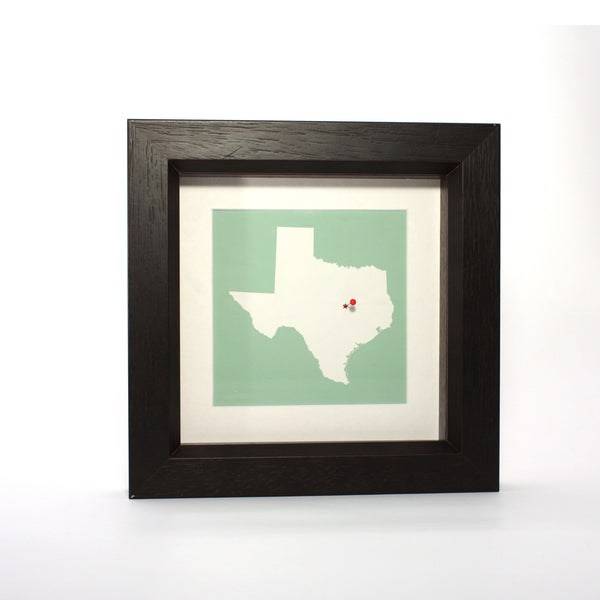 US Wall Art - Your US Framed State Map Your US Framed State Map