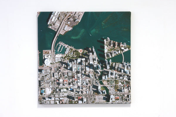 US Wall Map - Aerial Photograph Wall Map Canvas - Personalized On Any US Location Aerial Photograph Wall Map Canvas - Personalized on any US Location