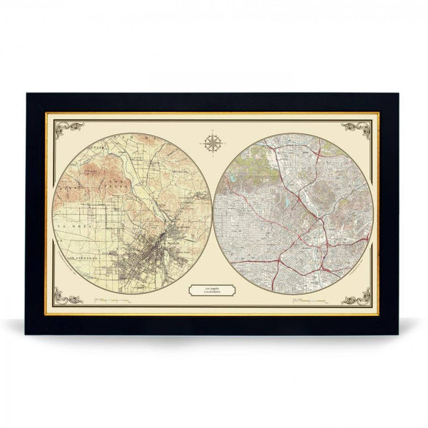 US Wall Map - Los Angeles Duo Century Wall Map