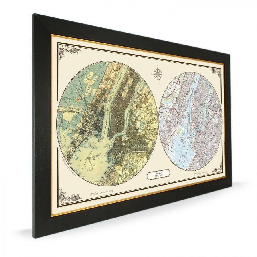 US Wall Map - New York Duo Century Wall Map