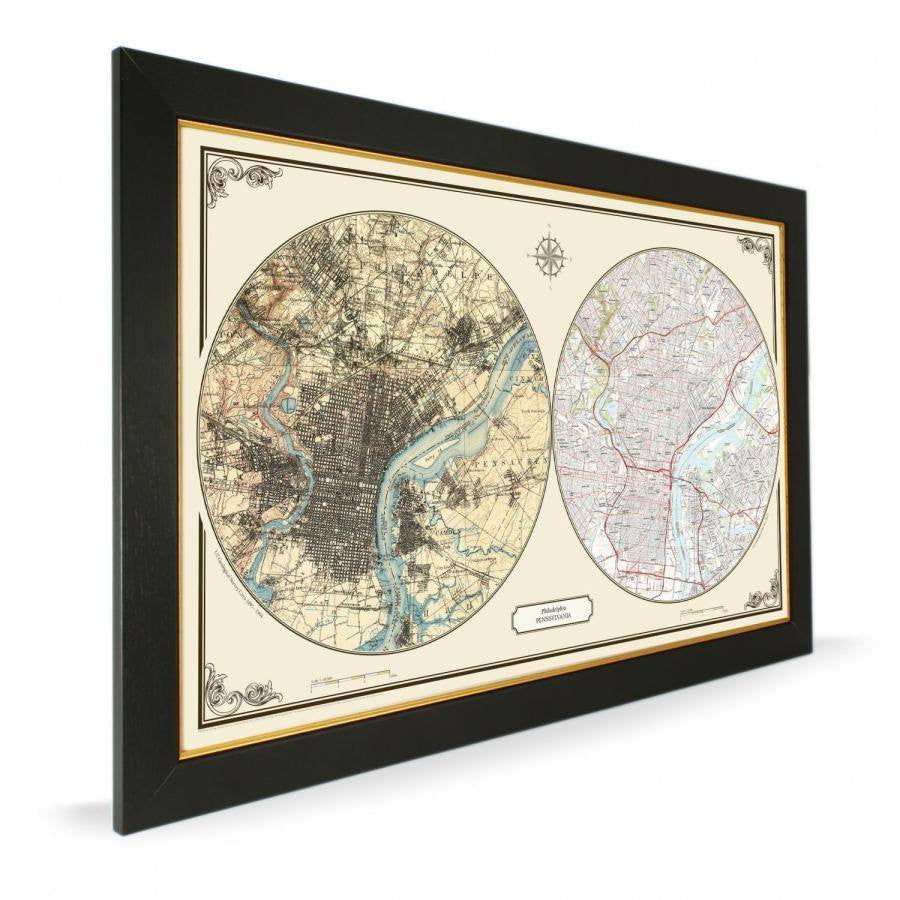 US Wall Map - Philadelphia Duo Century Wall Map