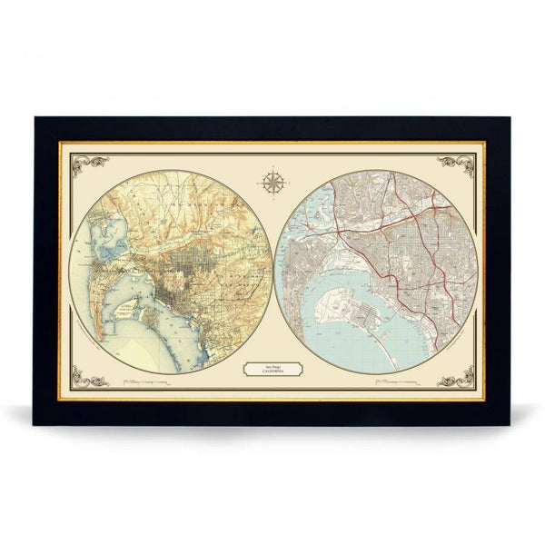 US Wall Map - San Diego Duo Century Wall Map