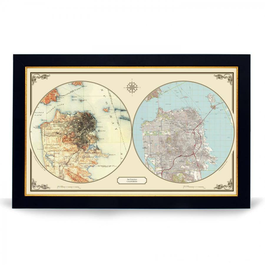 US Wall Map - San Francisco Duo Century Wall Map