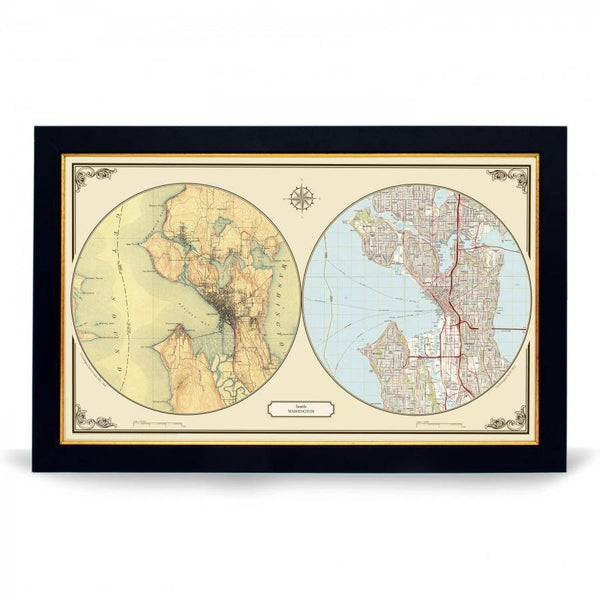 US Wall Map - Seattle Duo Century Wall Map