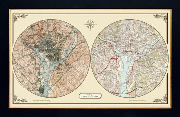 US Wall Map - Washington DC Duo Century Wall Map