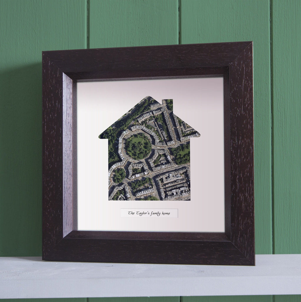 Our Home Deep Framed Wall Map