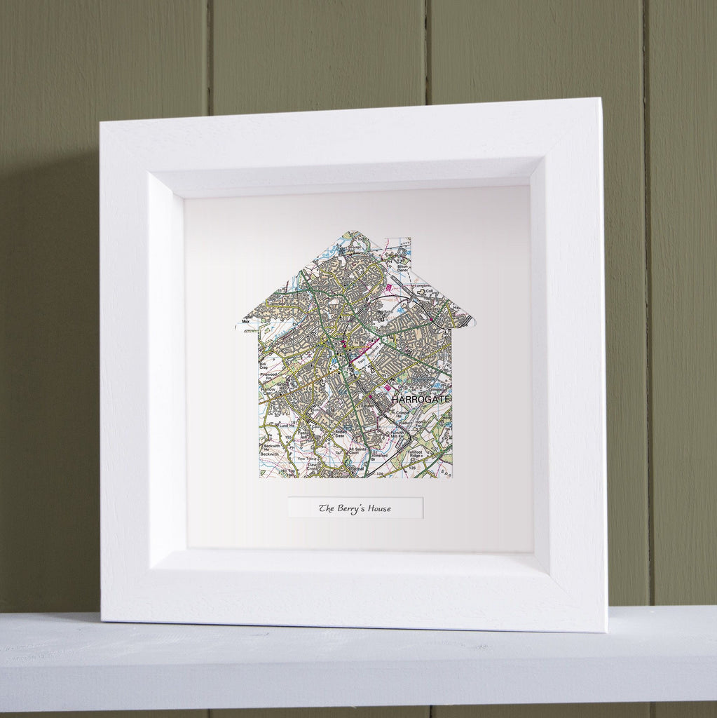 Wall Art - Our Home Deep Framed Wall Map
