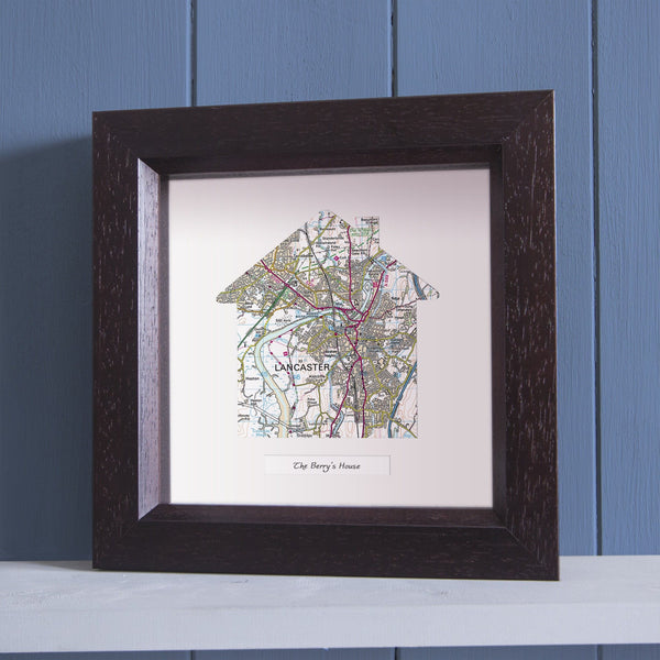 Wall Art - Our Home Deep Framed Wall Map Our Home Deep Framed Wall Map