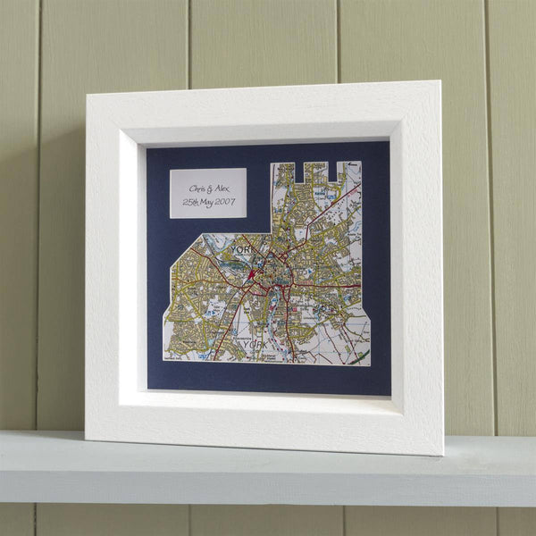 Wall Art - Personalised Church Framed Map