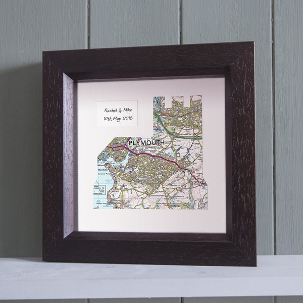 Wall Art - Personalised Church Framed Map Personalised Church Framed Map