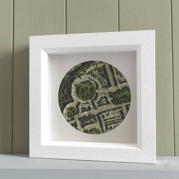 Wall Art - Personalised Deep Framed Map Circle Personalised Deep Framed Map Circle