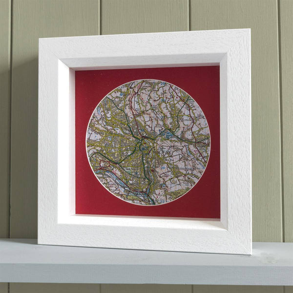 Wall Art - Personalised Deep Framed Map Circle