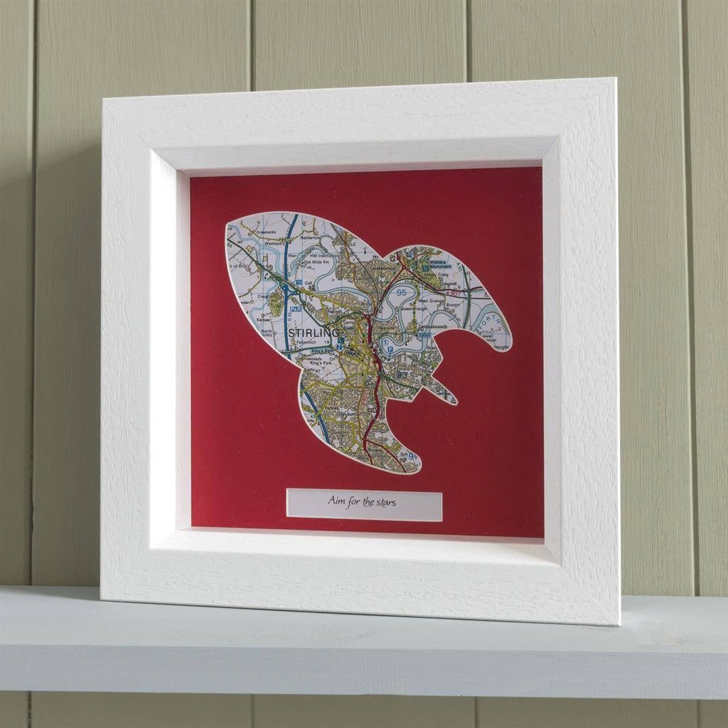 Wall Art - Personalised Deep Framed Rocket Map